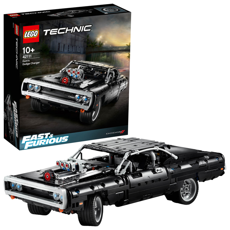 LEGO Technic 42111 - Doms Dodge Charger - Fast & Furious Sportwagen Muscle-Car