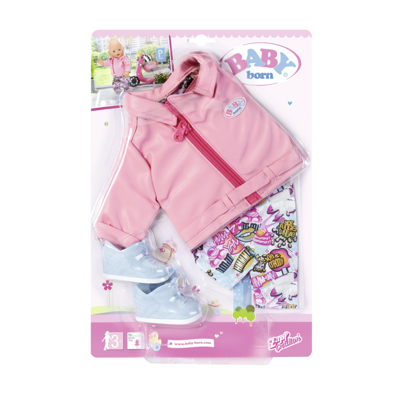 Zapf Creation 825259 - BABY born® City - BABY born® City Deluxe Scooter Outfit